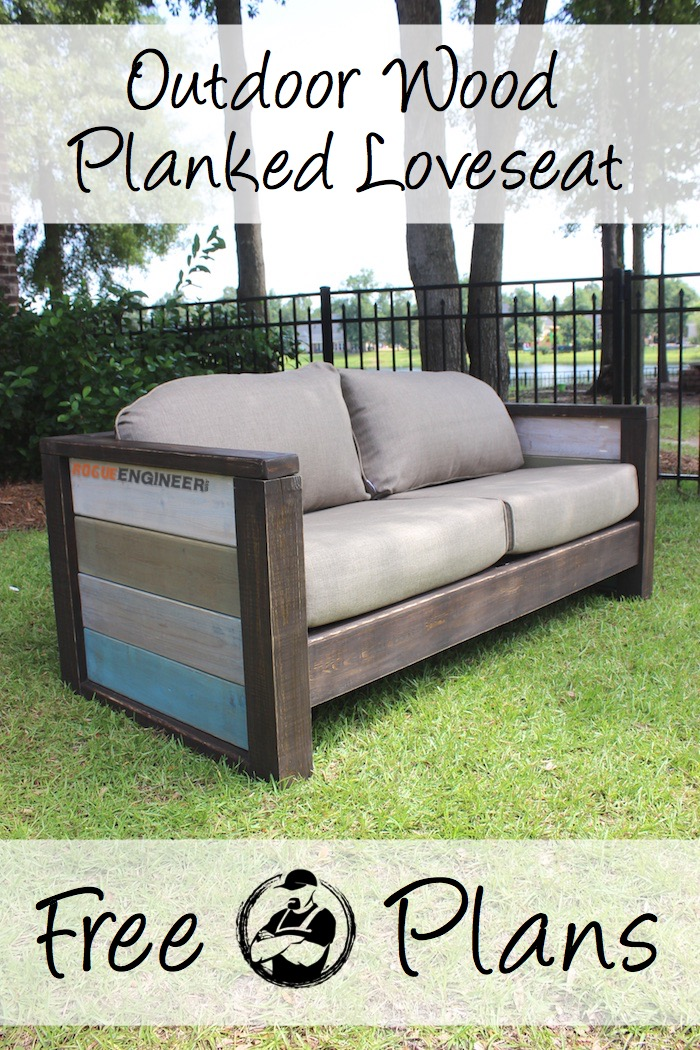 Rogue Engineer { Free Plans } Outdoor Wood Plank Loveseat