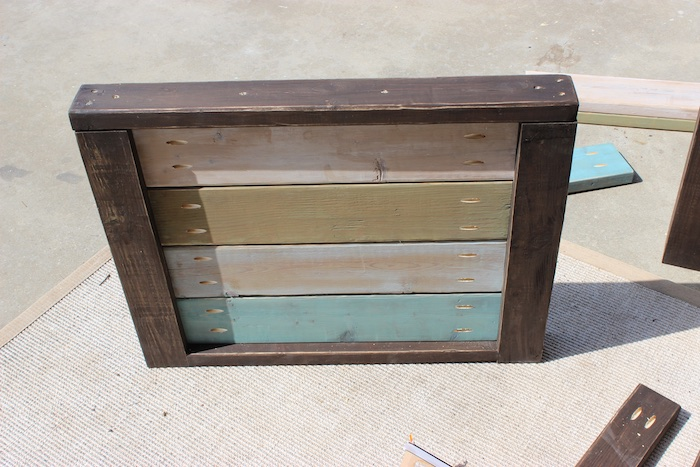 DIY Planked Wood Loveseat - Step 4