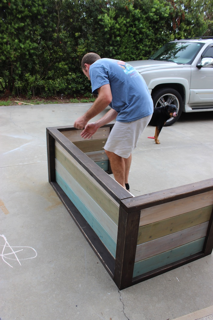 DIY Planked Wood Loveseat - Step 7