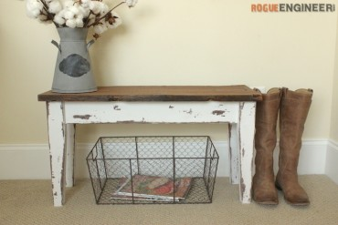 DIY Small Entry Bench Plans - Rogue Engineer