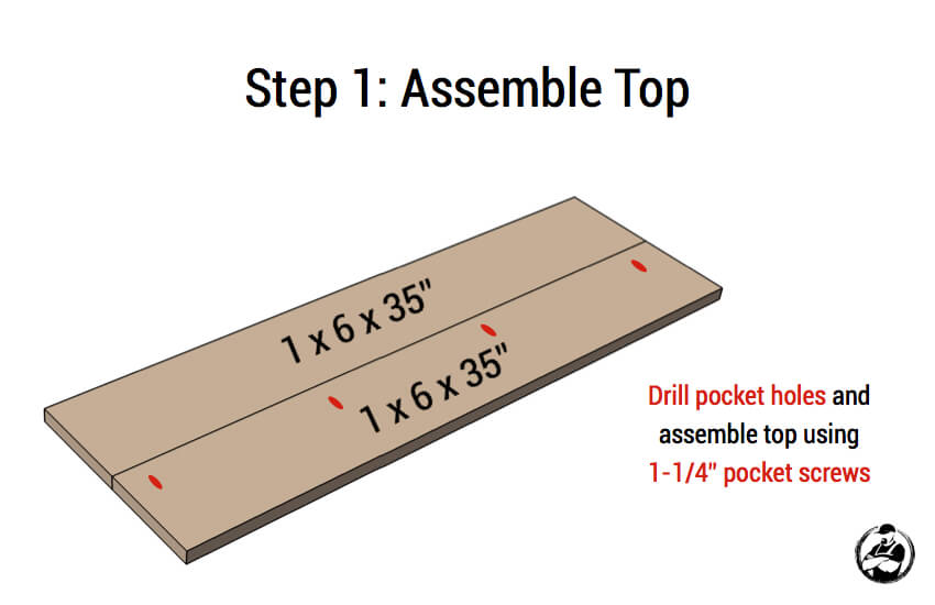 DIY Small Entry Bench Plans - Step 1
