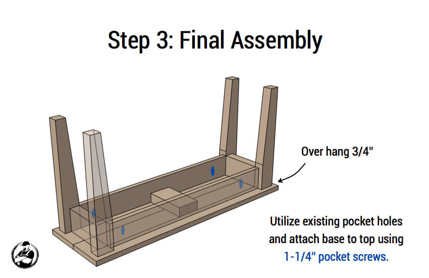 DIY Small Entry Bench Plans - Step 3
