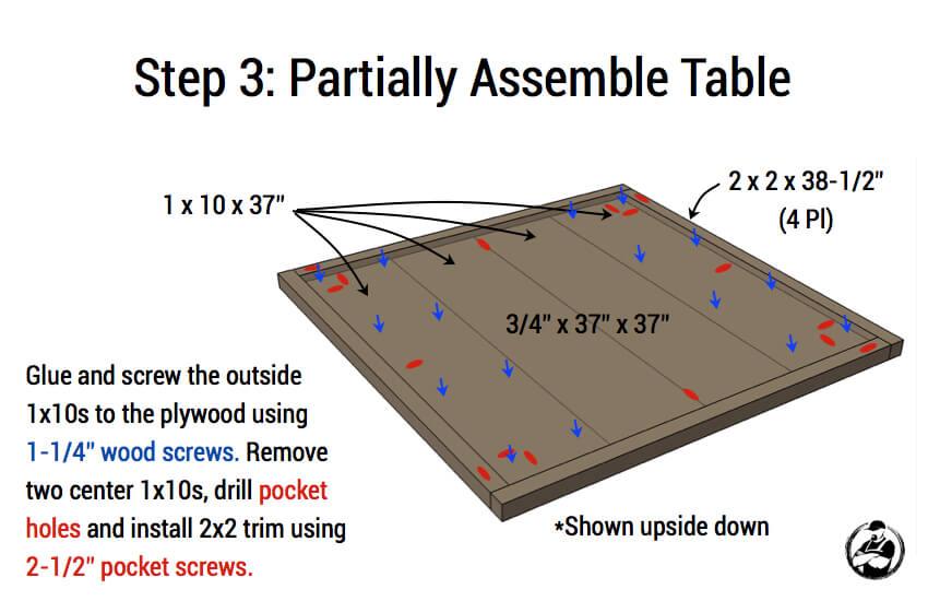 Modern Reclaimed Pub Table - Step 3