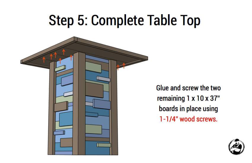 Modern Reclaimed Pub Table - Step 5