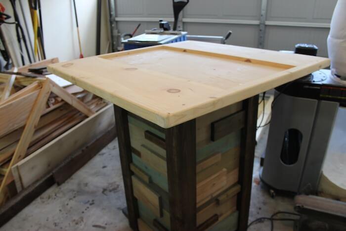 Modern Reclaimed Pub Table - Step 9