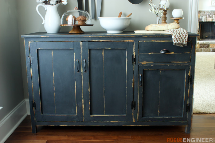 DIY Farmhouse Buffet Plans - Rogue Engineer -1