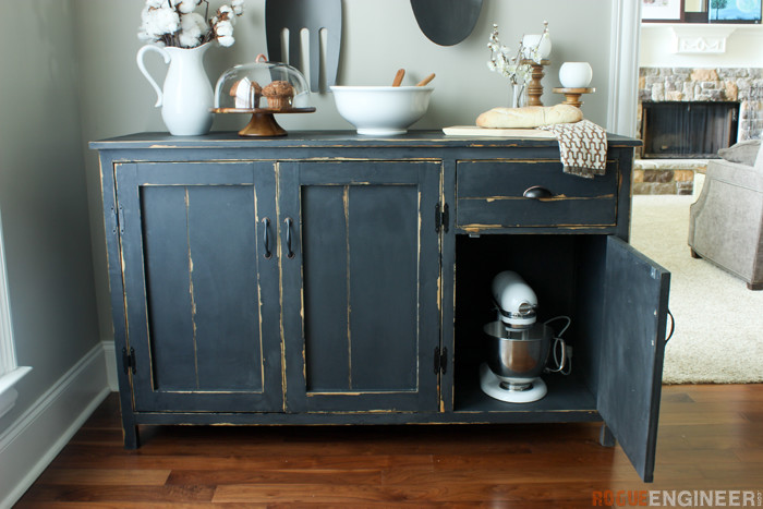 DIY Farmhouse Buffet Plans - Rogue Engineer -2