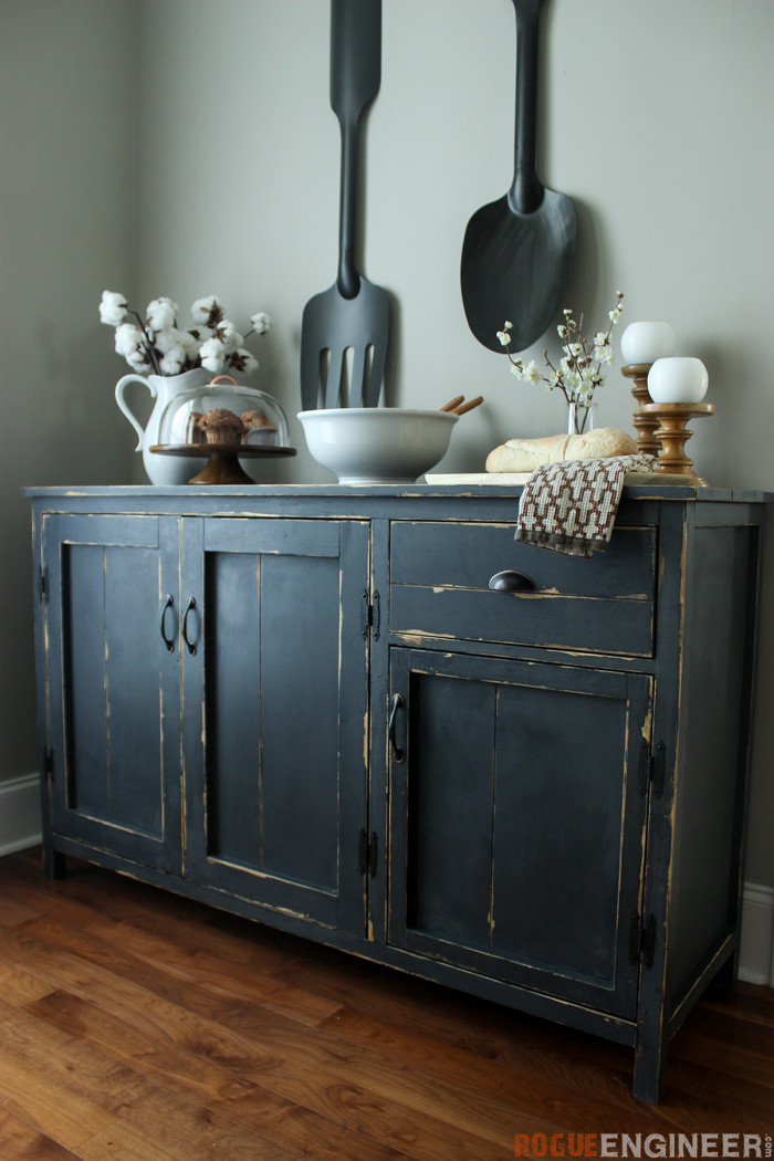 DIY Farmhouse Buffet Plans - Rogue Engineer -4