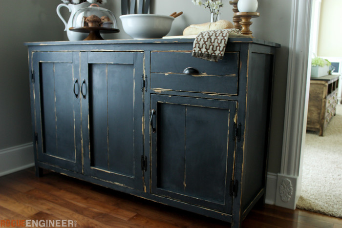 DIY Farmhouse Buffet Plans - Rogue Engineer -5