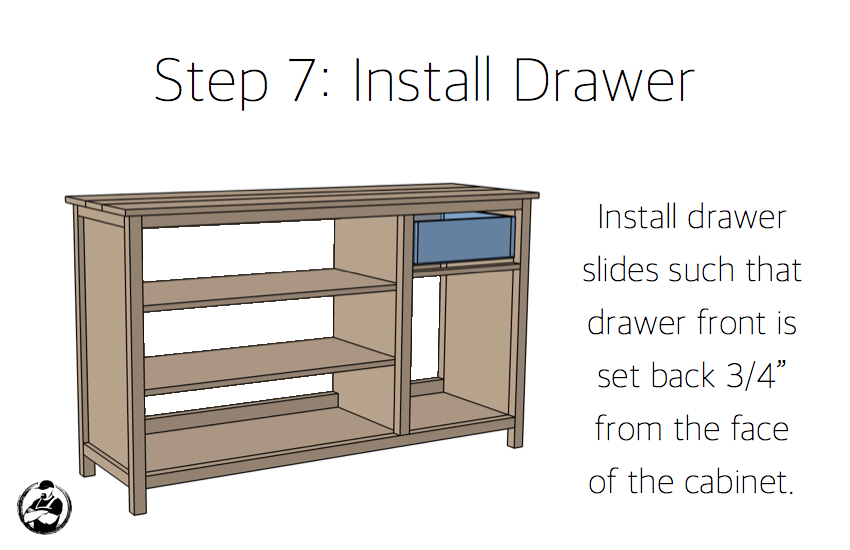 DIY Farmhouse Buffet Plans - Step 7