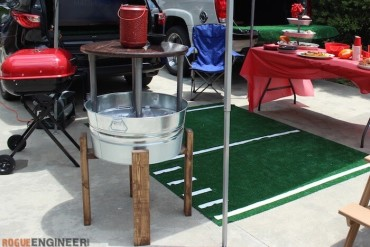 DIY Party Bucket Table - Rogue Engineer