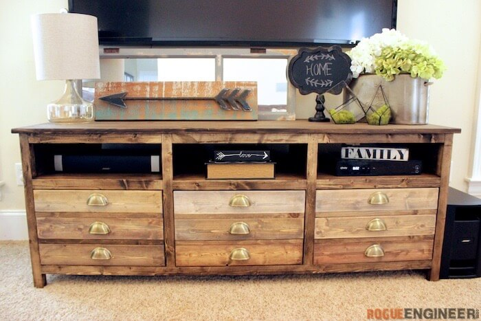 Printmakers Media Console Free Diy Plans Rogue Engineer