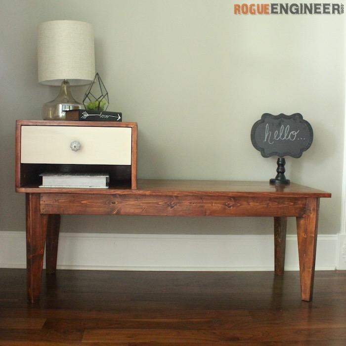 DIY Telephone Table Plans - Rogue Engineer 1