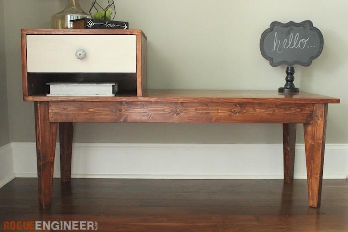 Stupendous Telephone Table Free Diy Plans Rogue Engineer Creativecarmelina Interior Chair Design Creativecarmelinacom