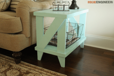 Narrow Cottage Side Table Plans - Rogue Engineer 2
