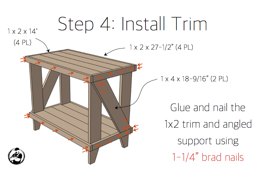 Narrow Cottage Side Table Plans - Step 4