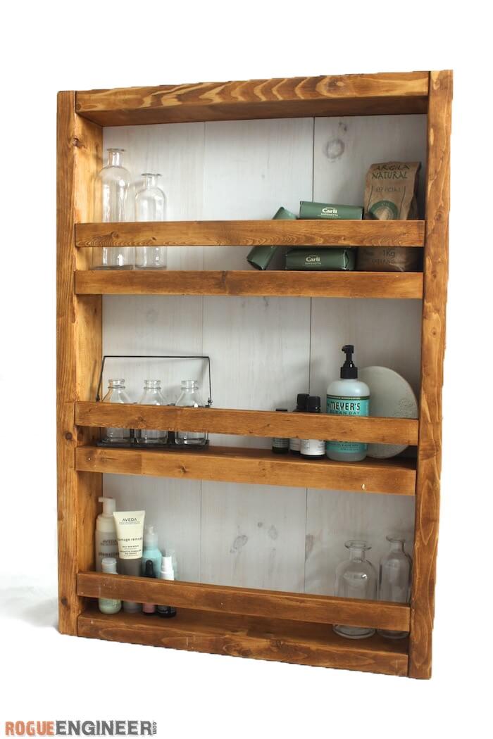 Apothecary Wall Shelf Free Diy Plans Rogue Engineer