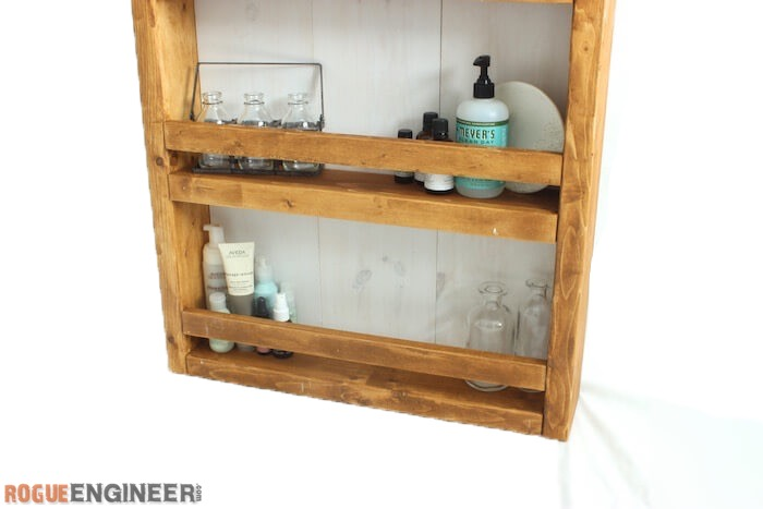 Apothecary DIY Wall Shelf Plans - Rogue Engineer 3