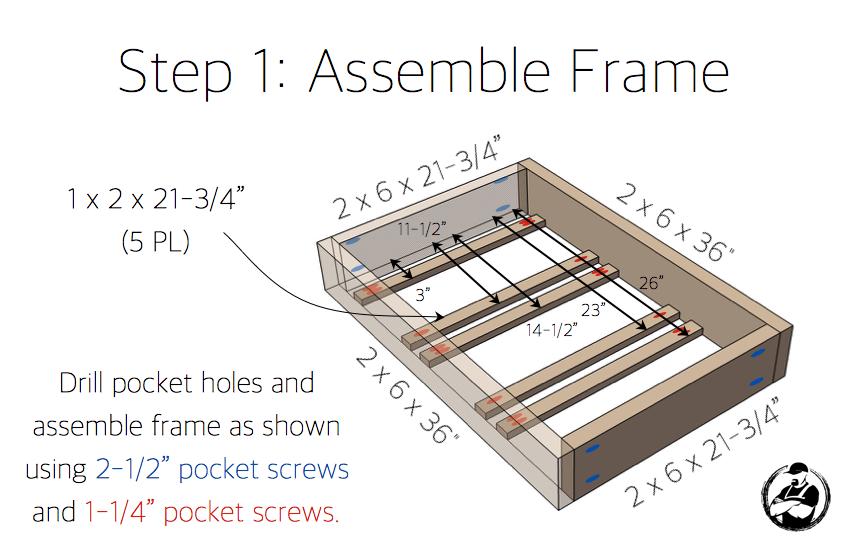 Apothecary DIY Wall Shelf Plans - Step 1