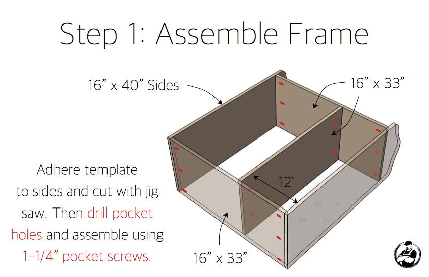DIY Dress Up Center Plans - Step 1