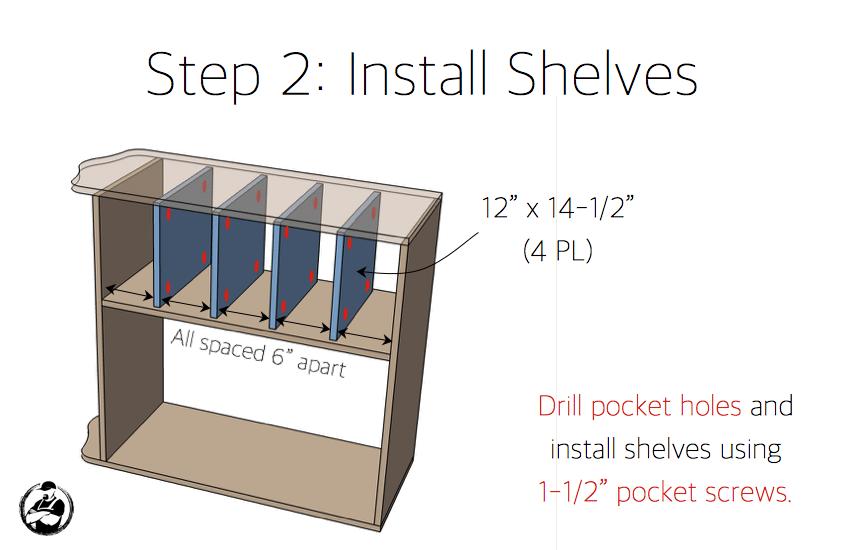 DIY Dress Up Center Plans - Step 2