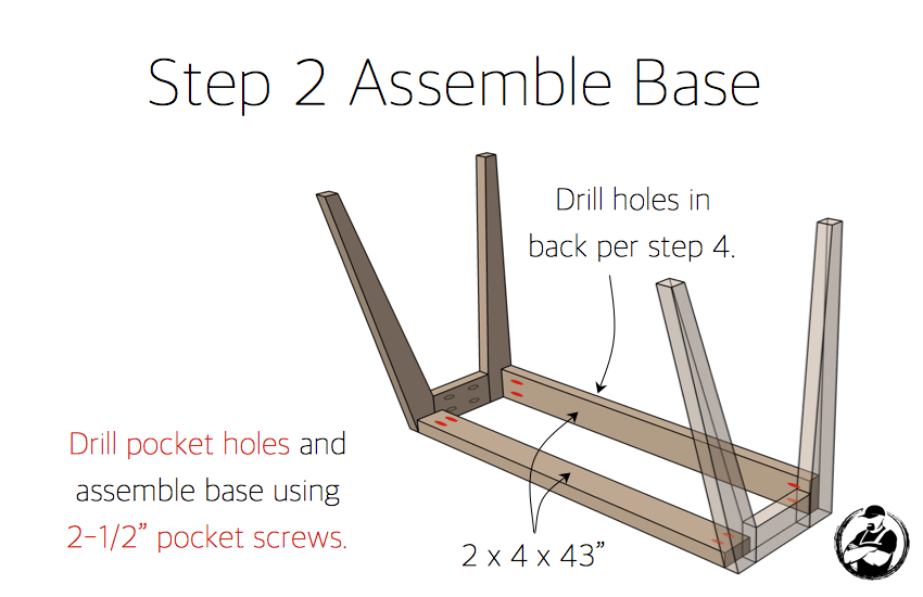 DIY Lindsay Desk Plans - Step 2