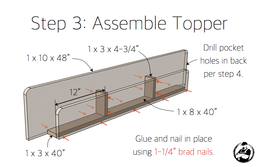 DIY Lindsay Desk Plans - Step 3