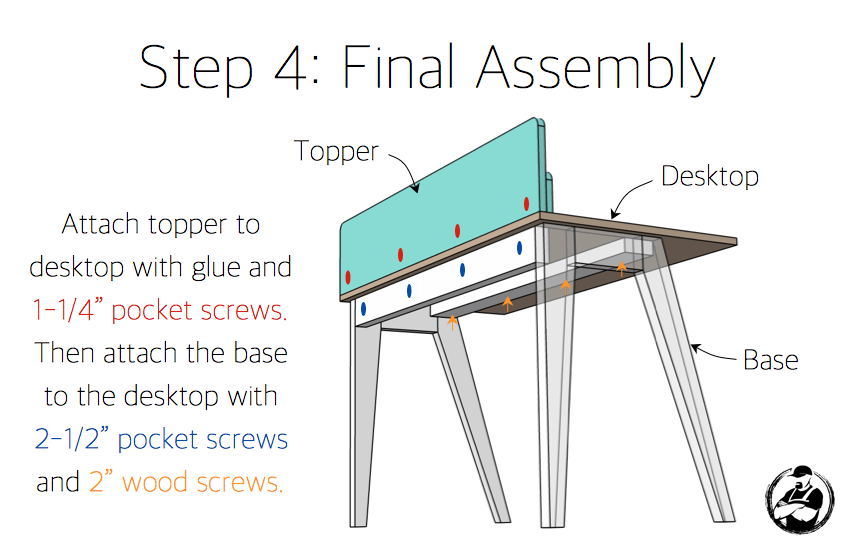 DIY Lindsay Desk Plans - Step 4