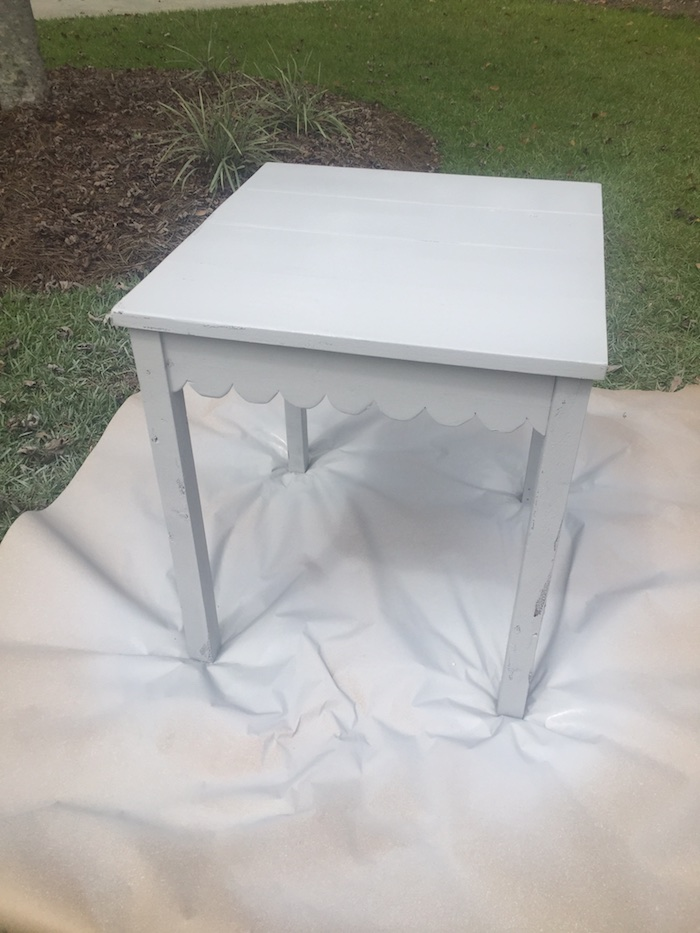 DIY Scalloped Side Table 15