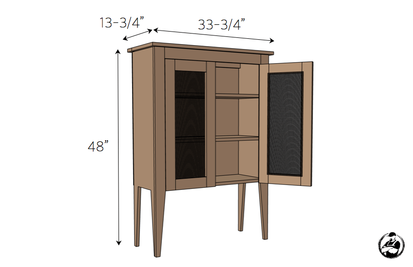 DIY Jelly Cabinet Plans - Dimensions