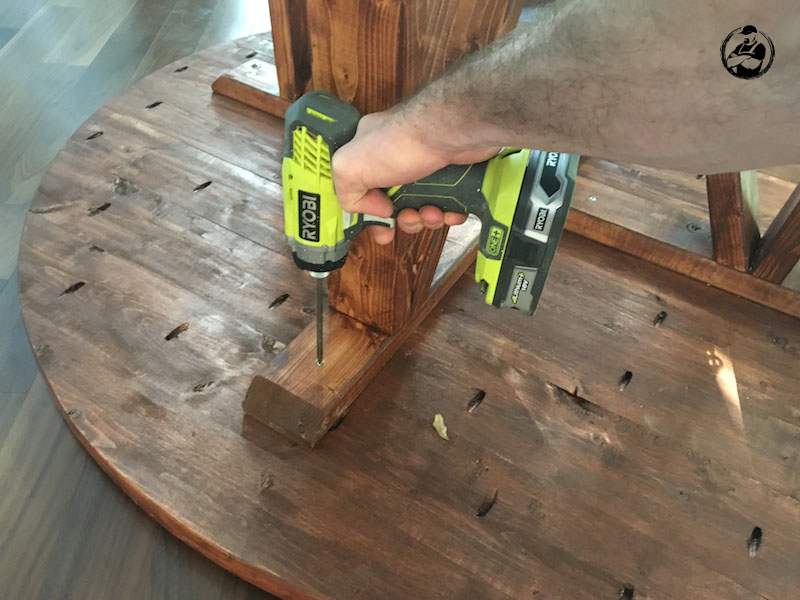 DIY Round Trestle Dining Table - Step 12