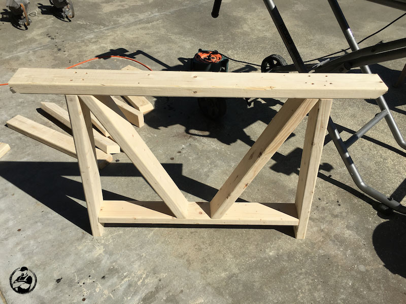 DIY Round Trestle Dining Table - Step 2