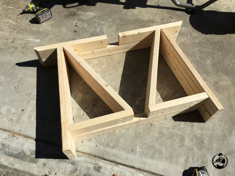 DIY Round Trestle Dining Table - Step 3