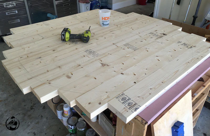 Diy Round Trestle Dining Table Step 6