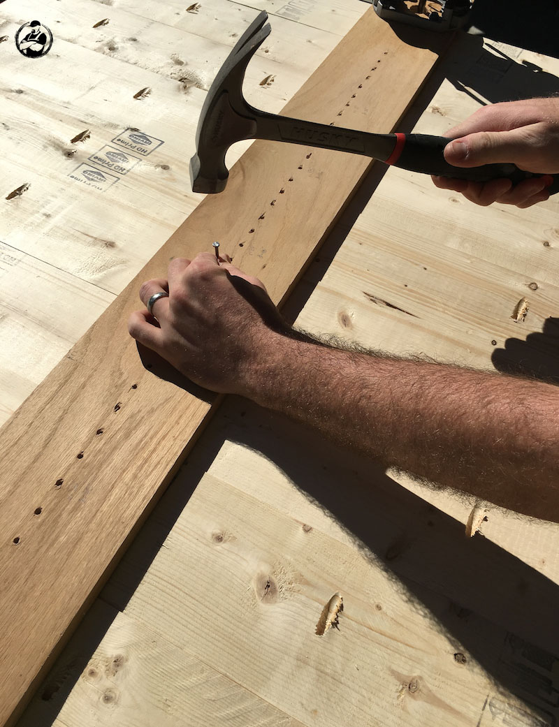 DIY Round Trestle Dining Table - Step 7