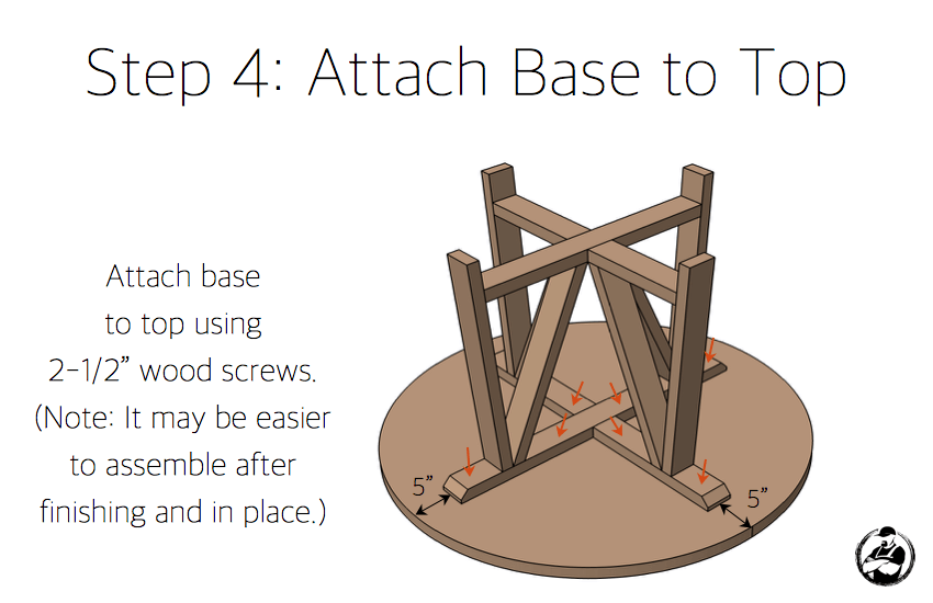 DIY Trestle Round Dining Table Plans - Step 4
