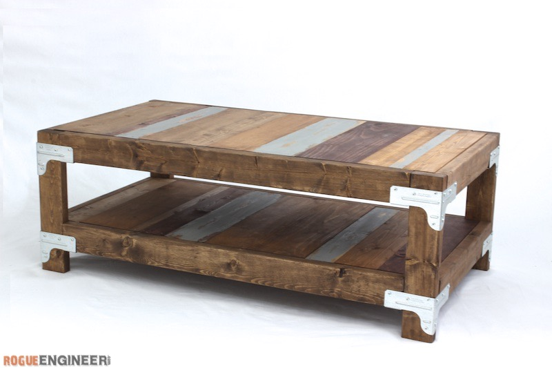 Industrial Coffee Table { Free DIY Plans } Rogue Engineer