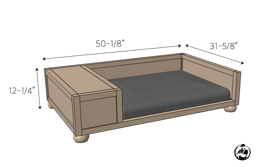 DIY Large Dog Bed Plans { Rogue Engineer }