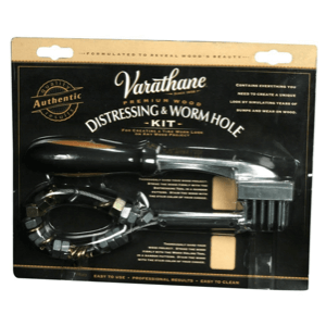Varathane Distressing and Wormhole Tools