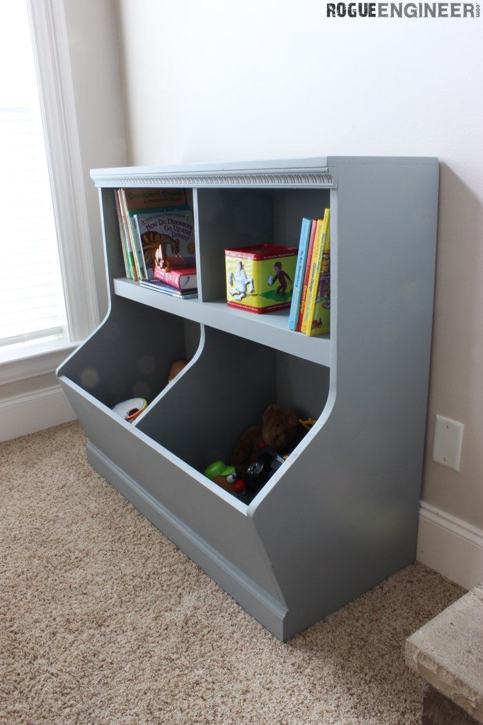 Ana White | Bookcase Toy Storage Featuring Rogue Engineer ...