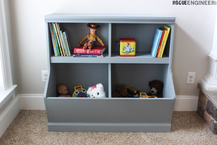 Bookcase with Toy Storage » Rogue Engineer