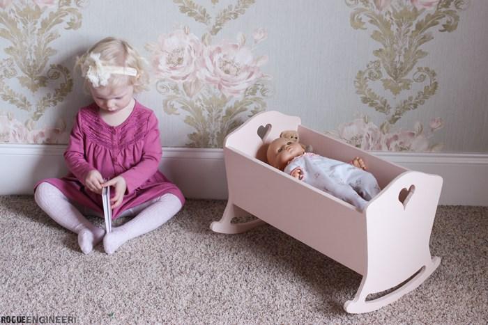 Girls Kids Childrens Wooden Nursery Bedroom Furniture Toy: American Girl Doll Cradle { Free DIY Plans } Rogue Engineer