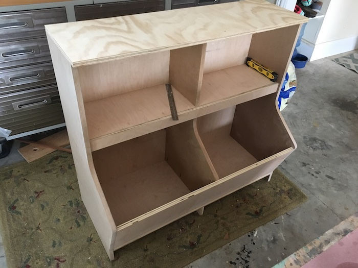 DIY Bookcase with Toy Storage Plans - Step 11