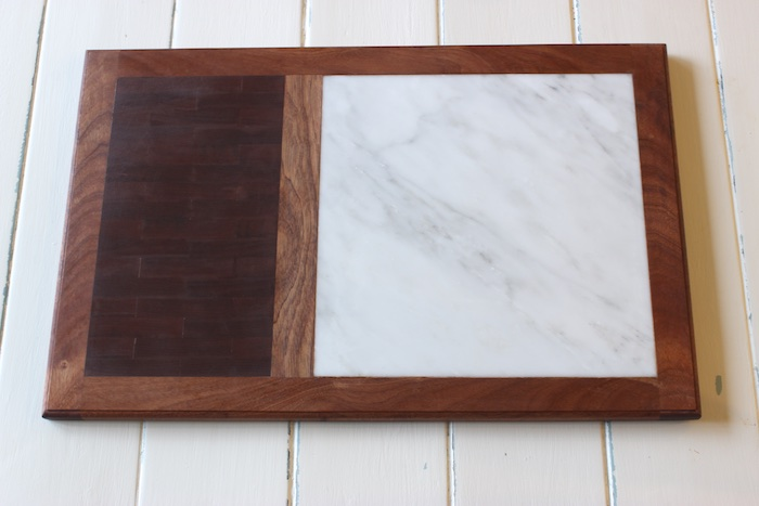 cutting board w/ marble cheese plate { by rogue engineer }, Kitchen design