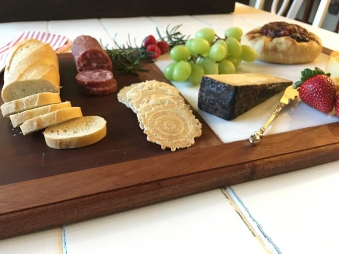 DIY Cutting Board with Cheese Plate - Step 12