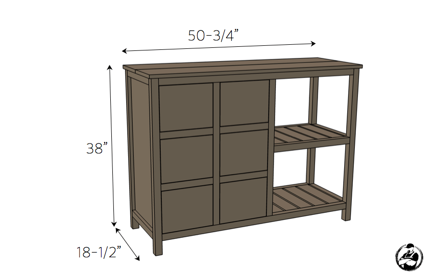 DIY Emma Buffet Plans - Dimensions