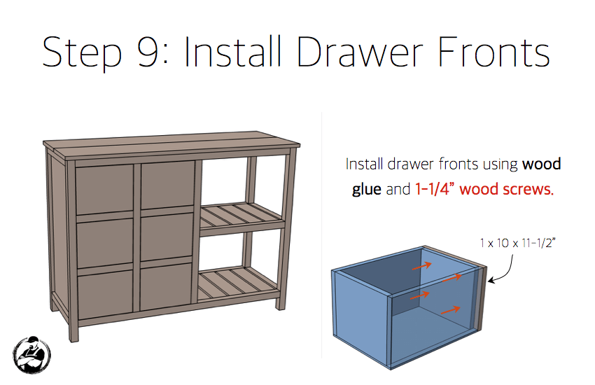 DIY Emma Buffet Plans - Step 9