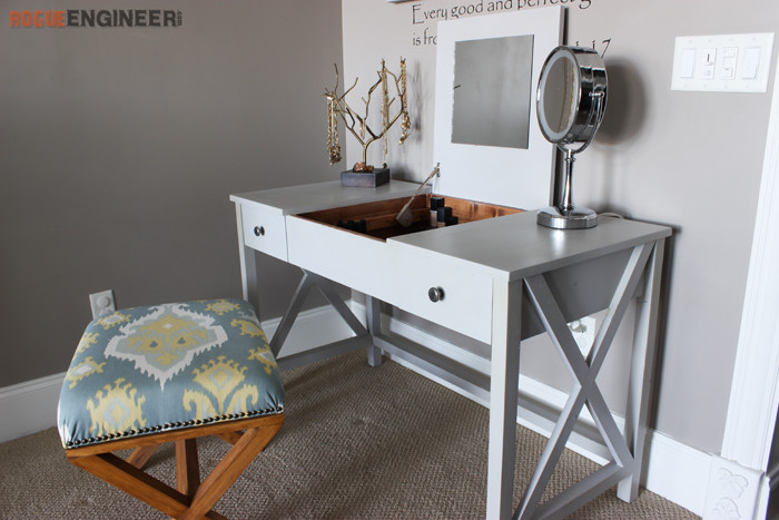 Flip Top Vanity { Free DIY Plans } Rogue Engineer