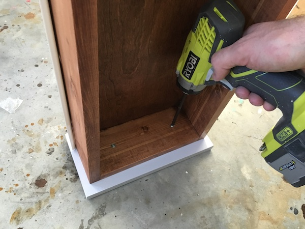 DIY Flip Top Vanity - Step 10