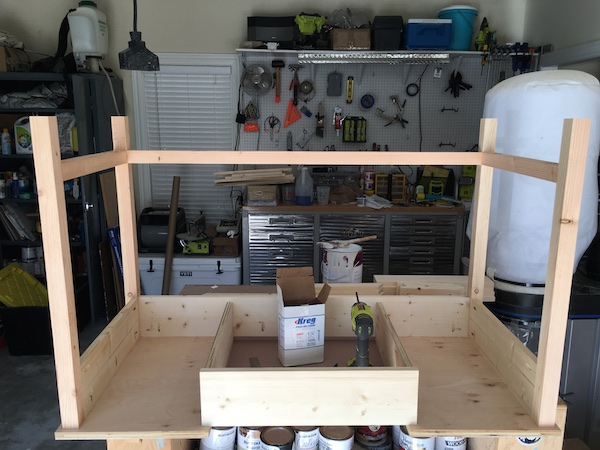 DIY Flip Top Vanity - Step 2